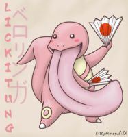 Pokemon: Lickitung by kittydemonchild
