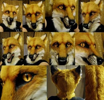 Red fox mask early 2013 by Crystumes