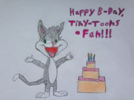 3rd B-Day Drawing for Tiny-Toons-Fan by nintendolover2010