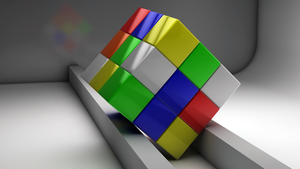 Cinema 4D Rubics Cube by ryanr08
