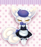 Meowstic maid by Joltik92
