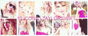 10 icons taylor swift by Dinosaursattack
