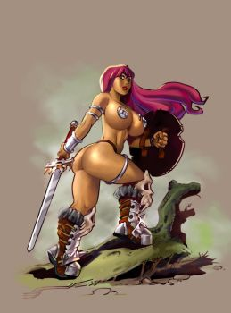 Savage Sword of Sharona by sidneymt