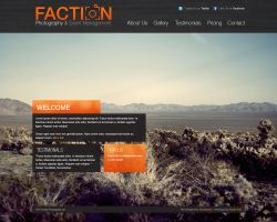 Faction Photography Website - mock up - by novastunna