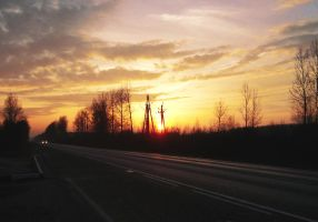 Road Sunset by Maarel