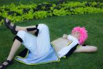 Natsu: relaxing in the grass by OORR