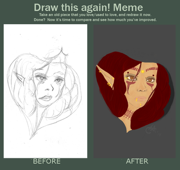 Before and After -Elven Hood- by DriftingFeather