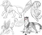 Catformers Concepts and a bird (lol) by MoonTiger456