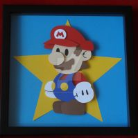Paper Mario Shadow Box 12X12 Framed by ShadowOfDorkness