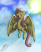 Fluttershy's New Wings by Blablashmo