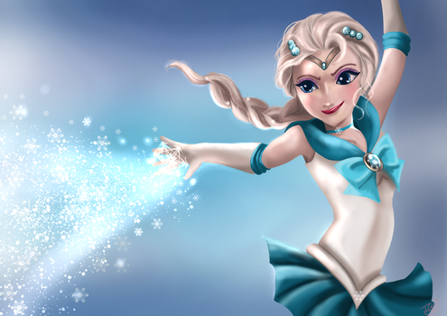 Elsa - Sailor version by thegeeklady