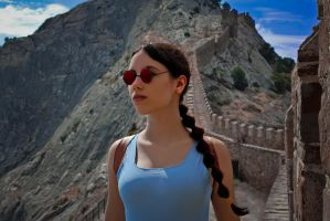 Lara Croft - Sudak fortress by TanyaCroft