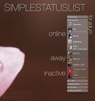 SimpleStatusList for adium by scorpion919