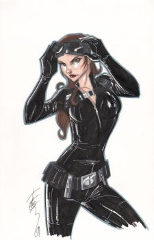 The Dark Knight Rises Catwoman by Hodges-Art