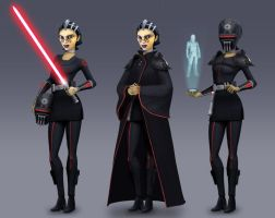 Imperial Inquisitor Barriss (Rebels Concept) by Brian-Snook