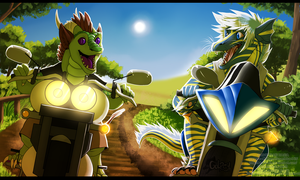 Sunny Road by Bluehasia