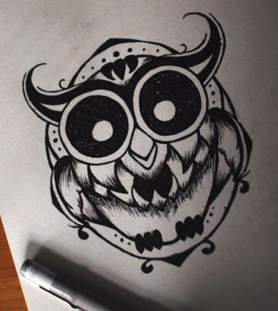 owly by evilmoon-tattoo