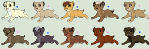Mystery Cub Adoptables - Set 01 [SOLD] by Hyridexi