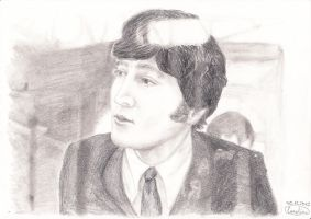 John Lennon (from A Hard Day's Night) by Lola-in-the-Black