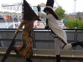 Reaver and Pyramid head by ShadowSani