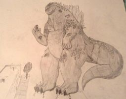 Godzilla Learns to Play by Assassin659