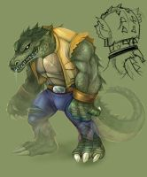 TMNT LeatherHead by smallguydoodle