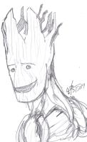 Groot Smile by ConstantM0tion