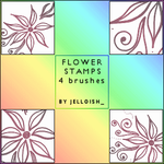 Brushes - Flower Stamps by greyskymorning