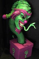 the riddlebox statue painted by mycsculptures