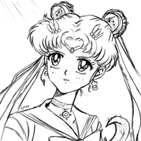 Sailor Moon with Crystal Moon Stick by Fighter4luv
