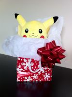 Merry Christmas From Pikachu by JustMiracleZ