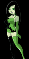 Shego in Her Pretty New Dress by fnbman