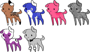 Adoptable 2 POINTS EACH by Firestar1799