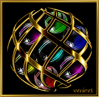 caged glossy orbs by venicet