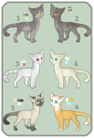 .: Cat Adoptables :. OPEN by Jayflop