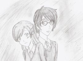 Harry Potter and my oc by ElienxXxKitty