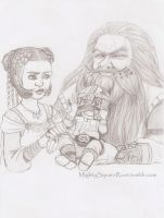 Gimli and his parents sketch by Isis-90