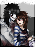 [AT] Jeff the killer x Kaya by KorikoMewGean