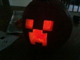 Creeper Pumpkin by Rnewman012