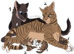 # SetPrice-Adoptables - Cat Family - OPEN [4/6] by PinkPlushChicken