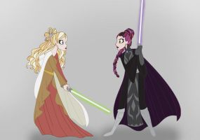 Star Wars Ever After High: Raven and Apple by KimberlyColors