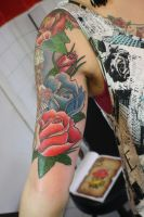 freehand flowers by SimplyTattoo