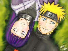 Naruto and Hinata by nelsonaof