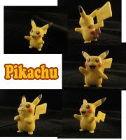 Pikachu Sculpture: Collage by ClayPita
