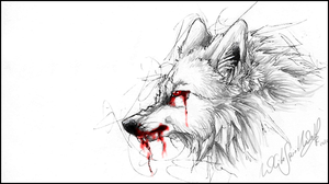 .:White Demon Wolf:. by WhiteSpiritWolf