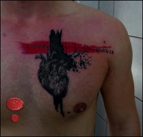 heart tattoo by loop1974
