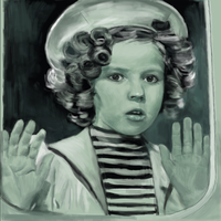 quick sketch of shirley temple by billconan
