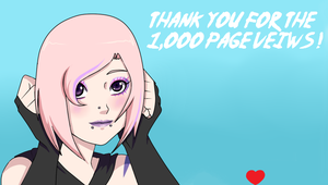 Thank You For The 1 000 Pageviews by Robinurhood