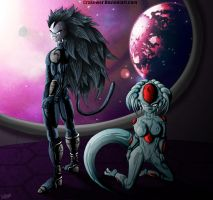 Fan art Doujin l Empereur saiyajin by Crakower