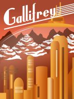 Art Deco Doctor Who: Gallifrey Poster by JeffSWalsh